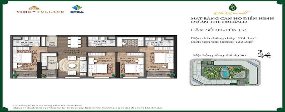 Mặt bằng căn hộ điển hình dự án The Emerald
