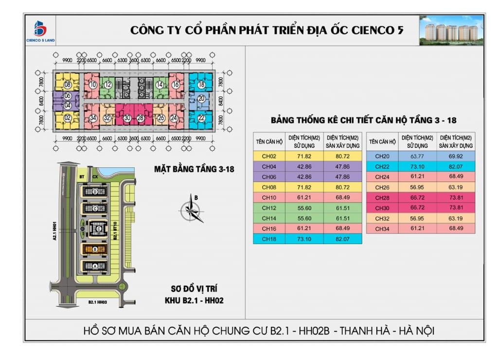 Mặt bằng thiết kế căn hộ Thanh Hà Mường Thanh Cienco 5