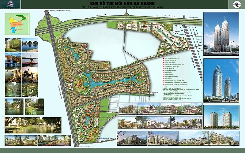 Bản đồ quy hoạch khu đô thị Nam An Khánh